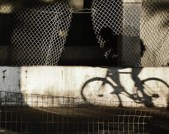 New York City Bike Rider in Shadow