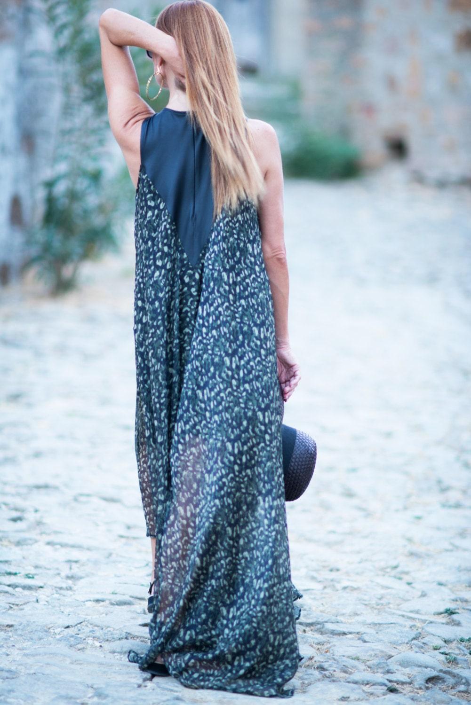 SALE Camo clothes women, Summer Camouflage Natural Silk Dress ...