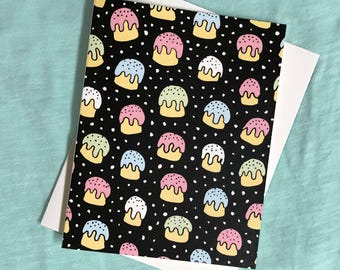 Ukiyo-e Cupcakes Blank Card