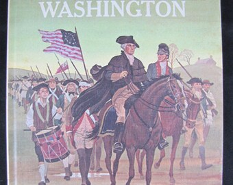 Meet George Washington // 1964 Hardback // Children's Biography of 1st President // American History for kids // Step-up book
