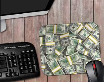 Money Mousepad 100 Dollars Cash - 7-3/4 x 9-1/4 Mouse Pad - Free Shipping