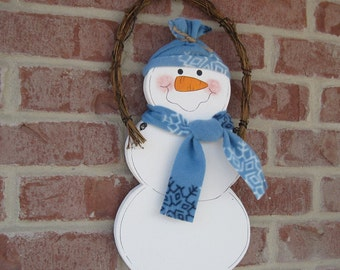 Hanging SNOWMAN for Winter, Christmas wall and door hanging decor