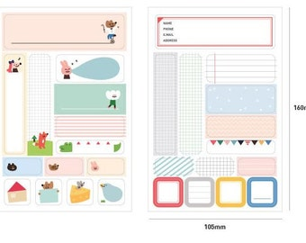 I'm + Index sticker (2 sheets)