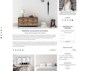 Responsive Blogger Template - Blogger Theme - Customizable Blog Design - Clean, Minimal - Savannah - premade blog theme - slider - drop down