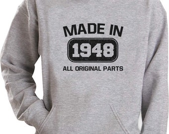 70th Birthday Gift Made In 1948 All Original Parts Hoodie