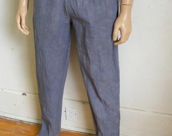 Men's Drawstring pants Herman's Eco Org Cotton Canvas Gray Mediums X 33 Yoga Hand dyed 1ZsUtxL5x9