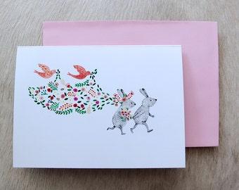 One fine day - Wedding, Engagement/Invitation card - Original illustration by Nana Sakata