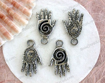Lead Free Pewter Paisley & Spiral Hand Charms, Made in USA Copyright © Protected, Spirals, Paisleys, Hands, KF Signature Series ~ K292-AP