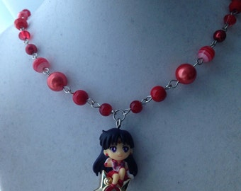 Sailor Mars & Transformation Pen // Sailor Moon // Twinkle Dolly // Beaded Necklace