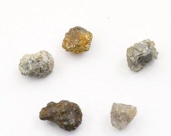 5 Piece, 3.60 Ct - Certified Uncut Rough Diamonds, Conflict Free Rough Diamonds, Loose Diamond