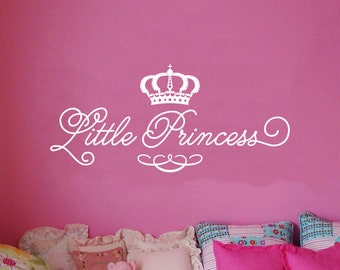 Little Princess Wall Decal - Girls Bedroom - Children's Room - Baby Nursery WAL-A128