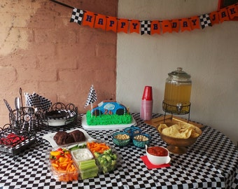 Custom Race Car Themed Custom Banner Party Decoration