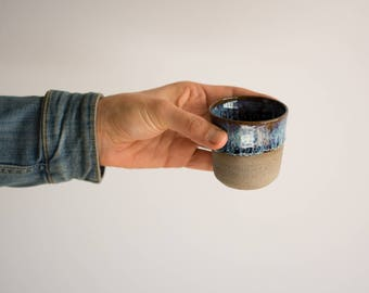 Blue Ceramic Cup, Espresso Cup, Small Pottery Mug, Modern Ceramic Cup, Coffee Tumbler, Ceramic cup, Ceramic Gift, Coffee Lover Gift