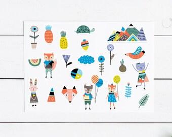 Scandi Sticker Pack- 23 stickers Planner, Planner Sticker, Journal, Snailmail, Sticker Set, Sticker Pack