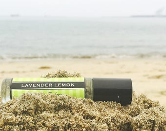 Mother's Day Gift // LAVENDER LEMON roll on perfume // A refreshing delicious blend of lavender, lemon and sugar