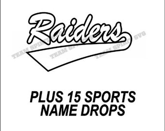 Raiders Swoosh Download Files - SVG, DXF, EPS, Silhouette Studio, Vinyl Cutting Files, Digital Cut Files - Use with Cricut and Silhouette
