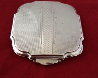 Powder compact 1939 silver case