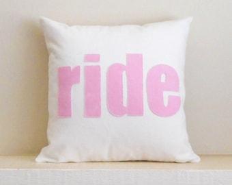 Horse Pillow cover, RIDE, Farmhouse, Horse Riding, Equestrian Home Decor, Horse Lover Gift