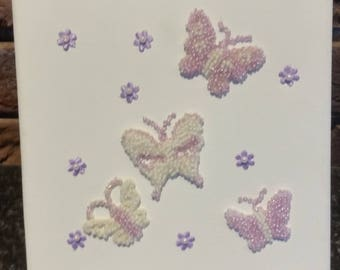 3-D Beaded Butterfly Canvas