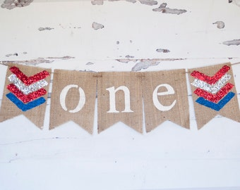 4th of July Birthday Banner, 4th of July First Birthday, 4th of July Party Decor, Independence Day Banner, 4th of July Banner, B328