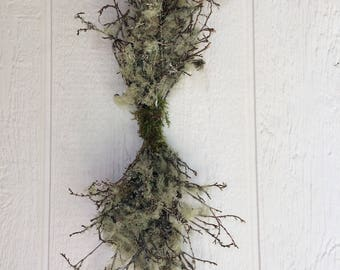 Swag, Free Shipping Swag, Lichen Branches Swag, Forest Decoration, Rustic Decoration, Natural Decor