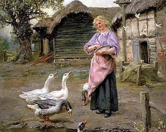 The Goose Girl - Counted cross stitch pattern in PDF format