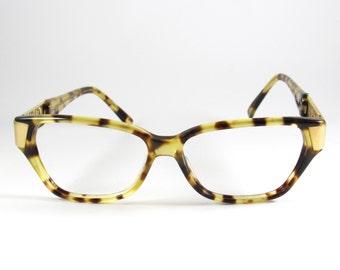 Gianfranco Ferre Mod:GGF148,  Vintage Rare 80s Gianfranco Ferre Horn Rimmed Tortoise Shell Eyeglasses, Hipster Tortoise Shell Eyeglasses,NOS