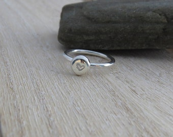Sterling silver heart ring Heart ring Silver heart ring Silver ring with heart Heart jewellery Heart jewelry