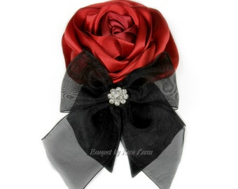 Red Corsage, Red Wedding Corsage, Red Rose Corsage