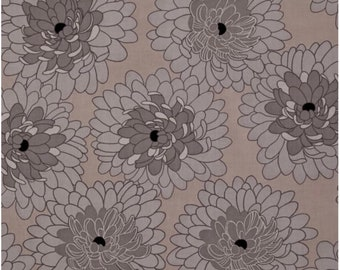 Taupe Bloom Fabric, Fat Quarter, Fresh Bloom by Michele D'Amore for Benartex