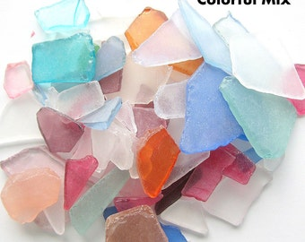 Sea Glass Bulk, Beach Decor, Nautical Decor Bulk Beach Glass, Bulk Seaglass, Beach Wedding Decor, Sea Glass Bulk COLORFUL MIX, 2 Lbs, #SGBCM