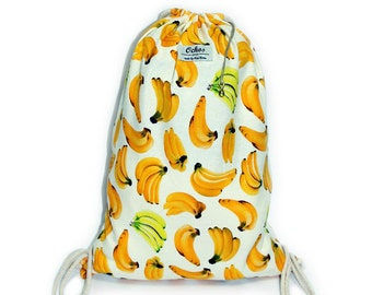 Ochos | Bananas White Background Sack Bag