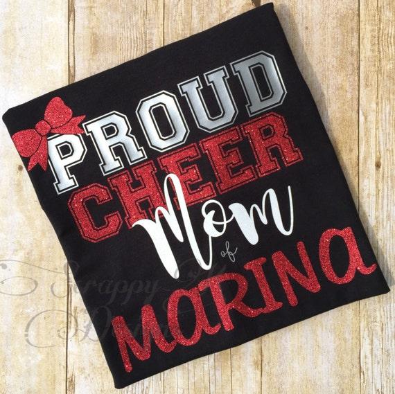Cheer Mom Shirt Proud Cheer Mom Shirt Cheerleading Mom