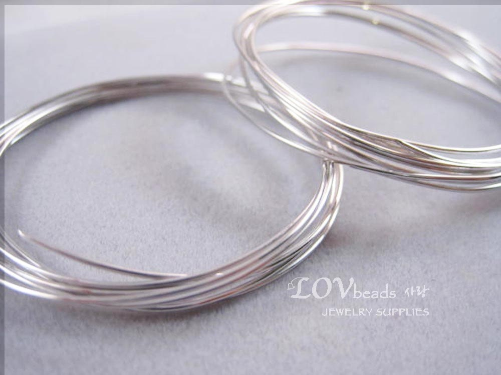 Wire rhodium plated wire soft .3mm .4mm .5mm .6mm 8mm