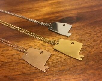 Alabama Necklace - Alabama Charm - Alabama Pendant - Alabama Jewelry - Bama Necklace - Alabama - Bama - Roll Tide - Bama Necklace - RTOTA