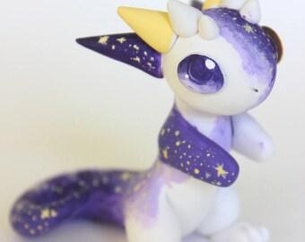 Galaxy Polymer Clay Dragon Kawaii Dragon