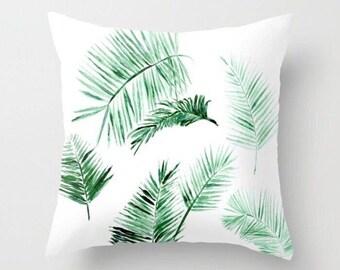 Modern Palm Leaf Throw Pillow, palm leaf pillow, palm leaves pillow, palm leaf cushion, palm throw pillow, modern throw pillow