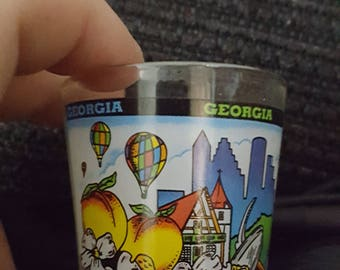 Georgia Themed vintage Shot Glass