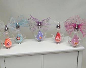 Miniature Dollhouse Bath Salts. Dollhouse Soap. Dollhouse Bathroom Accessories. Dollhouse Decorative Jars,Vases.Dollhouse Vanity Accessories