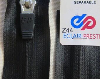 Black waterproof 45 cm detachable zip
