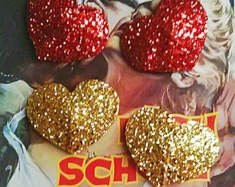 10% off with the code BDAY10  Burlesque Glitter heart Pasties