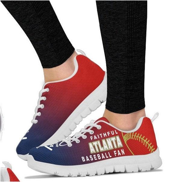 033A Shoes PP Braves Fan Atlanta Walking HB Baseball Sneaker 8Xn6R