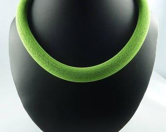 Necklace Mint - brand COCOLLANA - very original green neon Mint