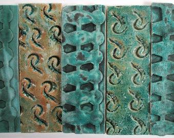 Textured Patchwork Ceramic Mosaic Tiles - Mixed Colors And Textures - Handmade Ceramic Pottery Art Tiles Mixed Designs - Mosaic Art