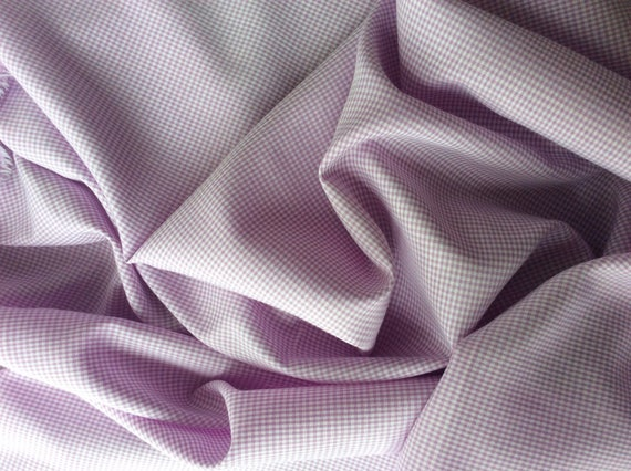 Cotton poplin lilac checks no15