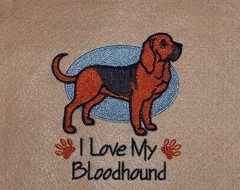 I love my Bloodhound Tapestry (embroidered wall art)