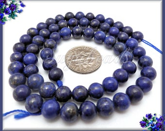 1 Strand 6mm Simulated Blue Lapis Lazuli Beads, SBGB17