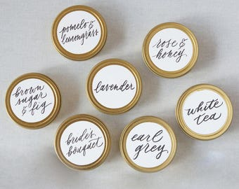 RESERVED FOR RASHI Wedding Favors, Candle Wedding Favors, Mini Soy Candles, Shower, Party Favors, Botanical
