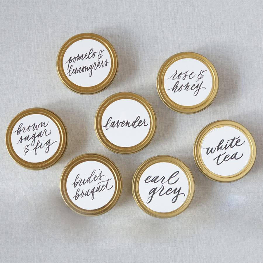 Mini Tin Candle Sampler x7 Wedding Favors Candle Wedding