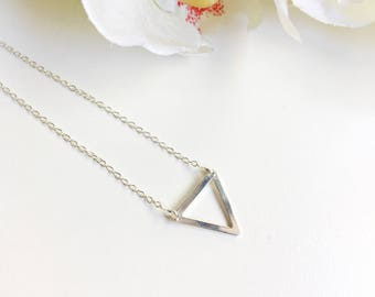 Sterling Silver Triangle Pendant